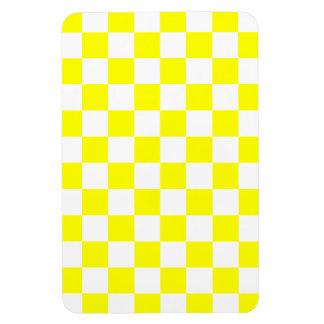 Yellow Checkered Rectangular Magnet