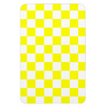Yellow Checkered Rectangular Photo Magnet