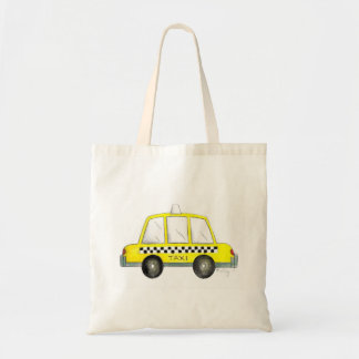Yellow Checkered Taxi Cab New York City NYC Tote
