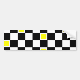Yellow Checkers Bumper Sticker