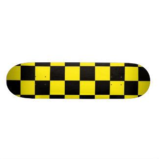 Yellow Checks Skate Board Deck