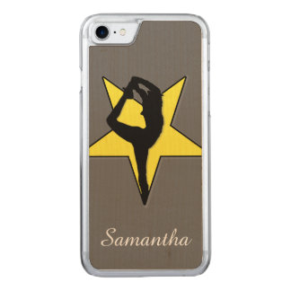 Yellow Cheerleader Carved iPhone 8/7 Case