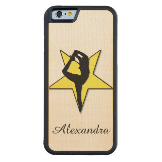 Yellow Cheerleader Carved® Maple iPhone 6 Bumper