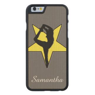 Yellow Cheerleader Carved® Maple iPhone 6 Slim Case