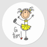 Yellow Cheerleader Stickers