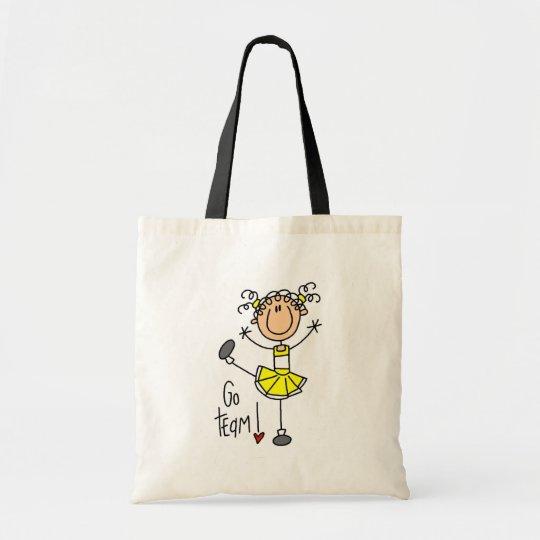 Yellow Cheerleader Tshirts and Gifts Tote Bag