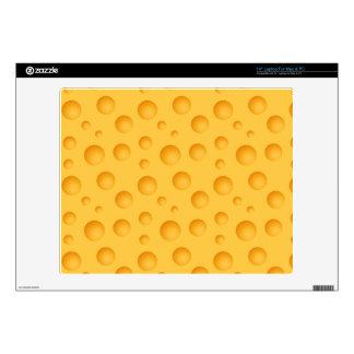 "Yellow Cheese Pattern 14"" Laptop Skins"