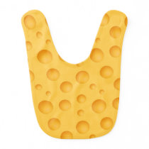 Yellow Cheese Pattern Baby Bib