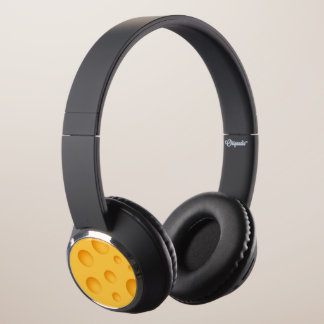 Yellow Cheese Pattern Headphones