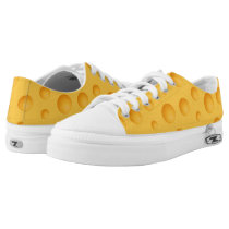 Yellow Cheese Pattern Low-Top Sneakers