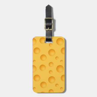 Yellow Cheese Pattern Tags For Bags