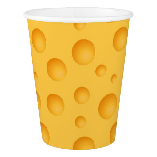 Yellow Cheese Pattern Paper Cup