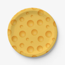 Yellow Cheese Pattern Paper Plate