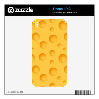 Yellow Cheese Pattern Decal For The iPhone 4