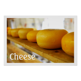 Yellow Cheese Wheels Print