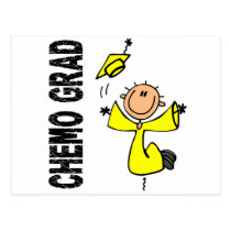 Yellow CHEMO GRAD 1 (Bladder Cancer) Postcard