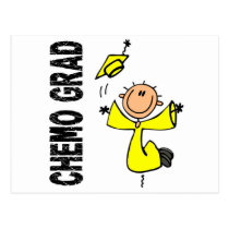 Yellow CHEMO GRAD 1 (Testicular Cancer) Postcard