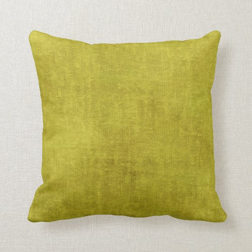 Yellow Chenille Fabric Texture Throw Pillow Zazzle