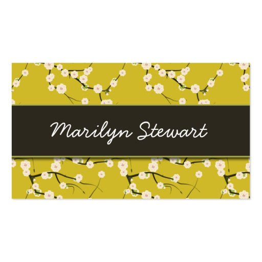 Yellow Cherry Blossoms Business Cards