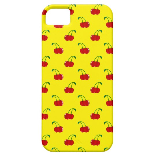 Yellow cherry pattern iPhone SE/5/5s case