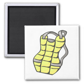 Yellow Chest Protector 2 Inch Square Magnet