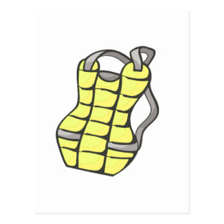 Yellow Chest Protector Postcard