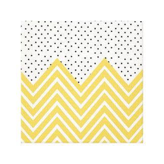 Yellow Chevron and dots Canvas Print