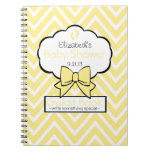 Yellow Chevron Baby Shower Guest Book- Notebooks