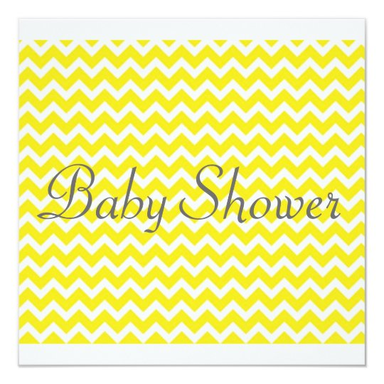 Yellow Chevron Baby Shower Invitation - Unisex
