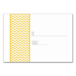 Yellow Chevron Border Escort Card Table Card