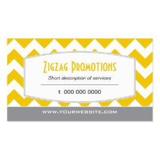 Yellow Chevron Business Card