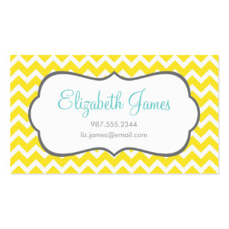 Yellow Chevron Business Card