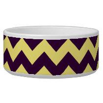 Yellow Chevron Design Bowl