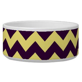 Yellow Chevron Design Dog Bowl
