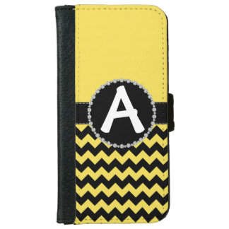 Yellow Chevron, Diamond Ribbon Flap Wallet iPhone 6 Wallet Case