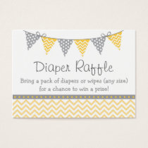 Yellow Chevron Diaper Raffle Tickets
