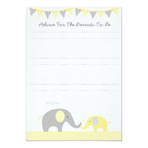 Yellow Chevron Elephant Advice Cards