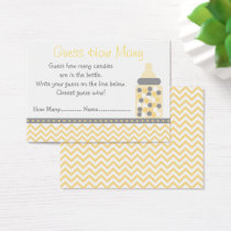 Yellow Chevron Guess How Many Game Business Card