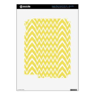 Yellow Chevron Illusion iPad 3 Skin