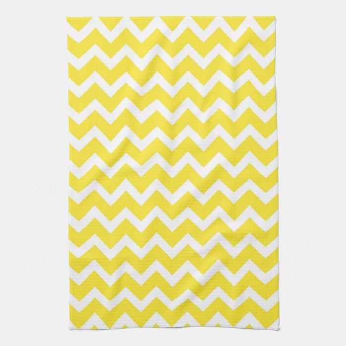 Yellow Chevron Kitchen Towel