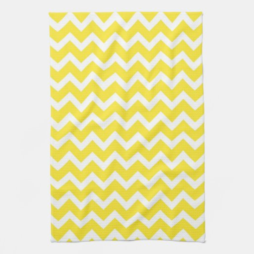 Yellow Chevron Kitchen Towels
