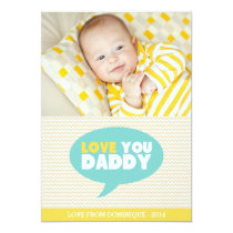 Yellow Chevron Love You Daddy | Father's Day Card
