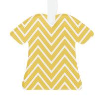 Yellow Chevron Pattern 2 Ornament