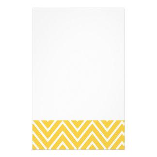 Yellow Chevron Pattern 2 Personalized Stationery