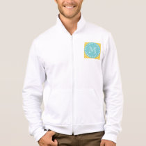 Yellow Chevron Pattern | Teal Monogram Jacket