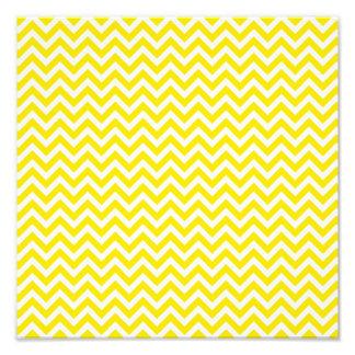 Yellow Chevron Photo Print