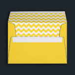 """Yellow Chevron Print Envelope<br><div class=""""desc"""">Yellow Chevron Print Envelope,  Perfect for 5 x 7 Invitations and whatever else you like!</div>"""