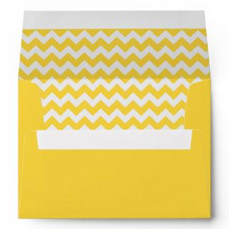 Yellow Chevron Print Envelope