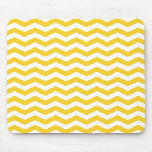 Yellow Chevron Stripes Mouse Pad