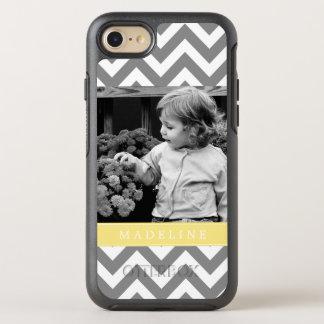 Yellow Chevron Stripes Photo Frame OtterBox Symmetry iPhone 8/7 Case